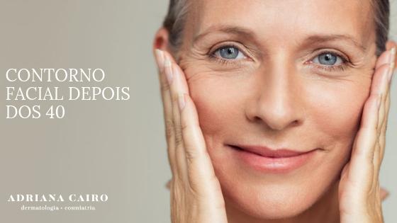 Como manter o contorno facial depois dos 40 anos